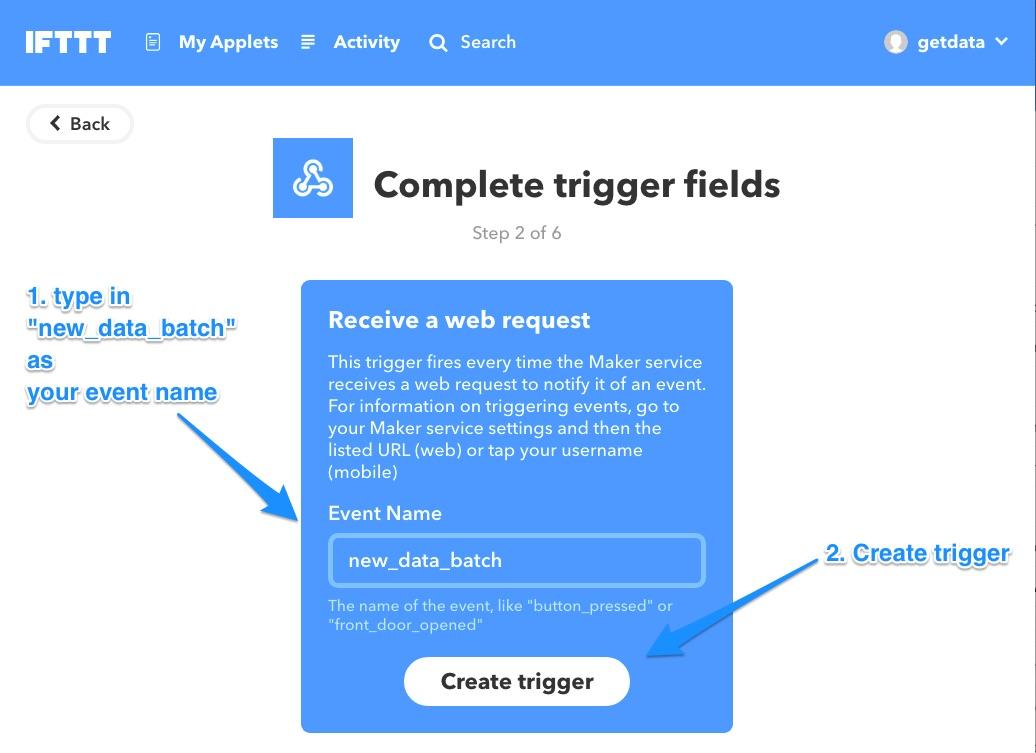 Ifttt create webhook trigger