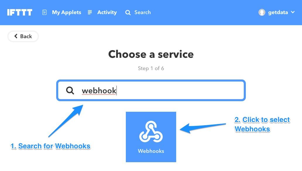 Ifttt select webhooks